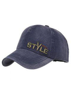 Unique STYLE Embroidery Adjustable Baseball Hat - Cadetblue