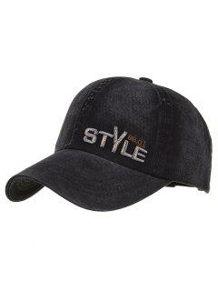 Unique STYLE Embroidery Adjustable Baseball Hat - Black
