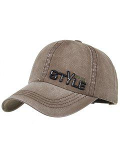 Unique STYLE Embroidery Adjustable Baseball Hat - Cappuccino