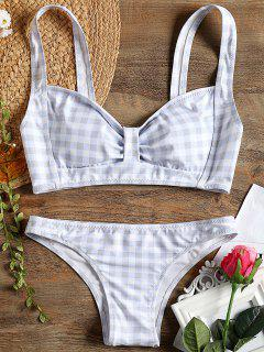 Checked Bow Bikini Swimsuit - Checked M