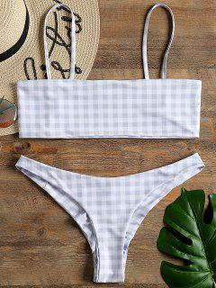 Wirefree Tube Cheeky Bikini - Checked S