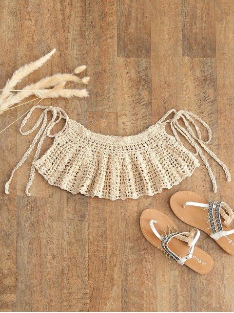 Corbatas Crochet Cover-up - Albaricoque Talla única Mobile
