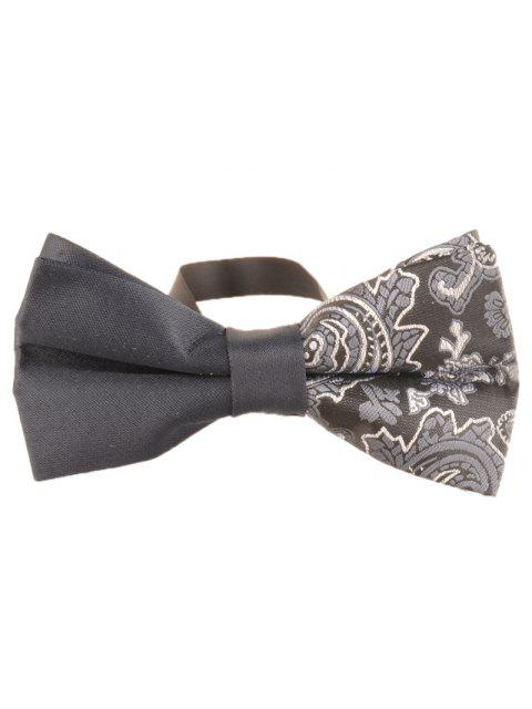 chic Unique Asymmetric Cashew Pattern Embellished Bowtie - GRAY  Mobile