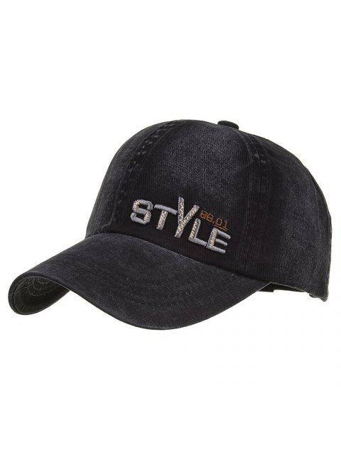 women's Unique STYLE Embroidery Adjustable Baseball Hat - BLACK  Mobile