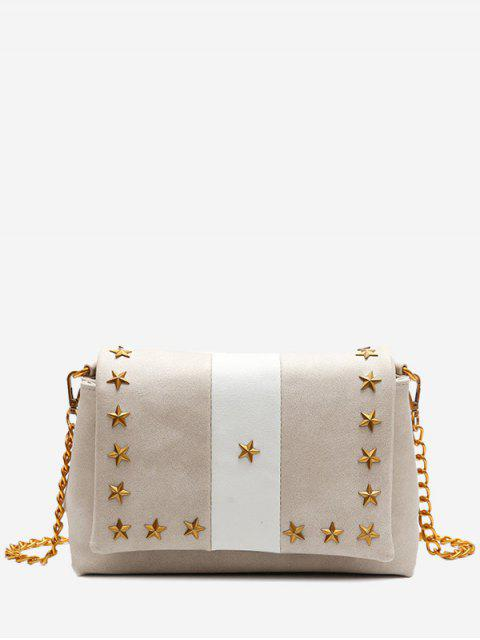 women's Flapped Pentagram Crossbody Bag - APRICOT  Mobile