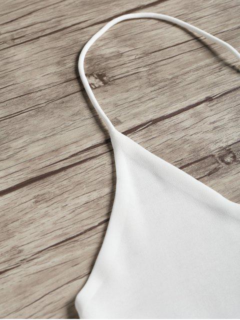 Top sin mangas con espalda abierta - Blanco S Mobile