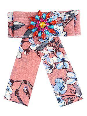 Broche adornado con flores y diamantes de imitación
