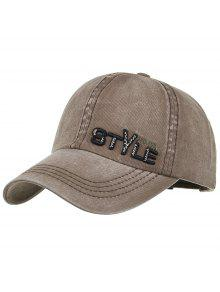 نمط فريد التطريز قبعة بيسبول قابل للتعديل - كابتشينو