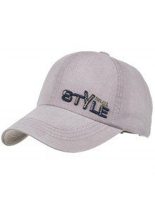 قبعة  نمط فريد التطريز بيسبول قابل للتعديل - اللون الرمادي