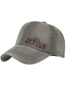 قبعة  نمط فريد التطريز بيسبول قابل للتعديل - الجيش الأخضر