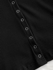 Vestido Acanalado S A 243;n Negro Presi Mini d0qH5d