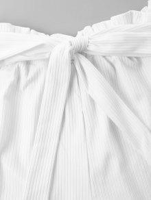 S Y Costuras 243;n Pantalones Blanco Con Corto Pantal Anchos qxT8Sp