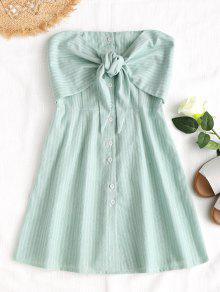 فستان مصغر بونوت مخطط - L