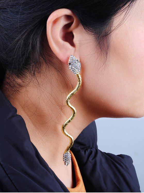 99cb24dc4011 Pendientes de metal decorados con diamantes de imitación de serpiente -  Dorado