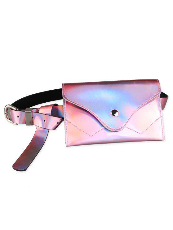 outfit Funny Pack Faux Patent Leather Skinny Belt - PINK