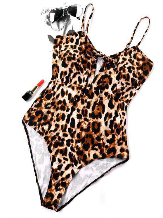Corpo de leopardo de corte alto em espaguete - Impressora de Leopardo Castanho XL