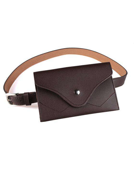 shop Removable Fanny Pack Faux Leather Skinny Belt - CAPPUCCINO