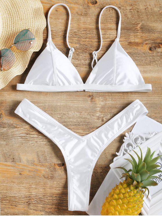 5ecd2a531ec2 Conjunto de bikini de tanga de corte alto acolchado