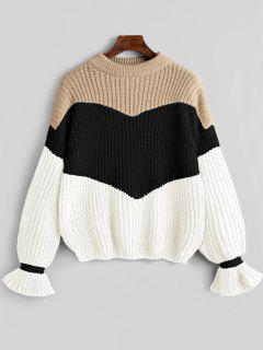 Contrast Chunky Sweater - Black