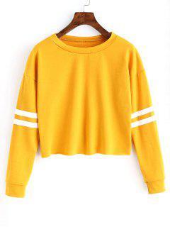 Crew Neck Striped Pattern Sweatshirt - Ginger L