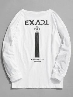 Exact Graphic Full Sleeve T-shirt - White Xl