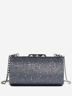 Glitter Cylinder Shaped Crossbody Bag - Gray