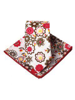 Conjunto De Pañuelo Con Corbata De Adorno Exclusivo Con Estampado De Flores - Rojo