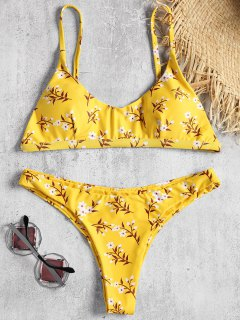 Conjunto Bikini Minúsculo Floral Inconformista - Amarillo L