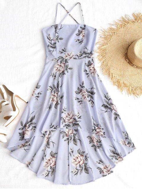 Vestido largo con estampado floral de Cami Criss Cross - Floral M Mobile