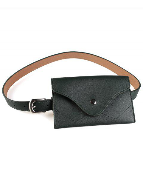 Extraíble Fanny Pack Faux Leather Skinny Belt - Verde  Mobile