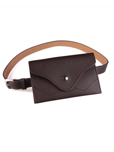 Extraíble Fanny Pack Faux Leather Skinny Belt - Capuchino  Mobile