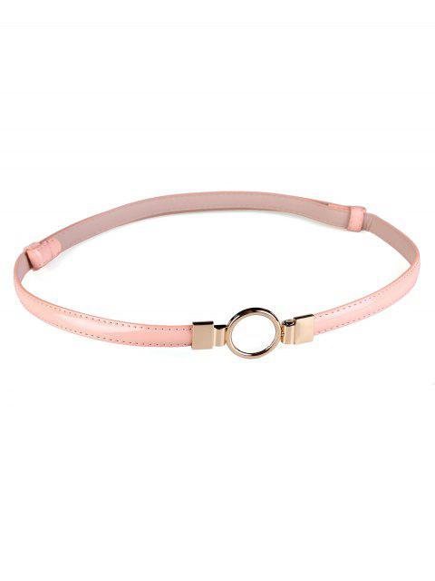 Cinturón pitillo adornado con hebilla redonda de metal - Rosa  Mobile