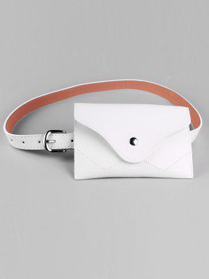 Abnehmbarer Gürteltasche aus Kunstleder mit schmalem Gürtel