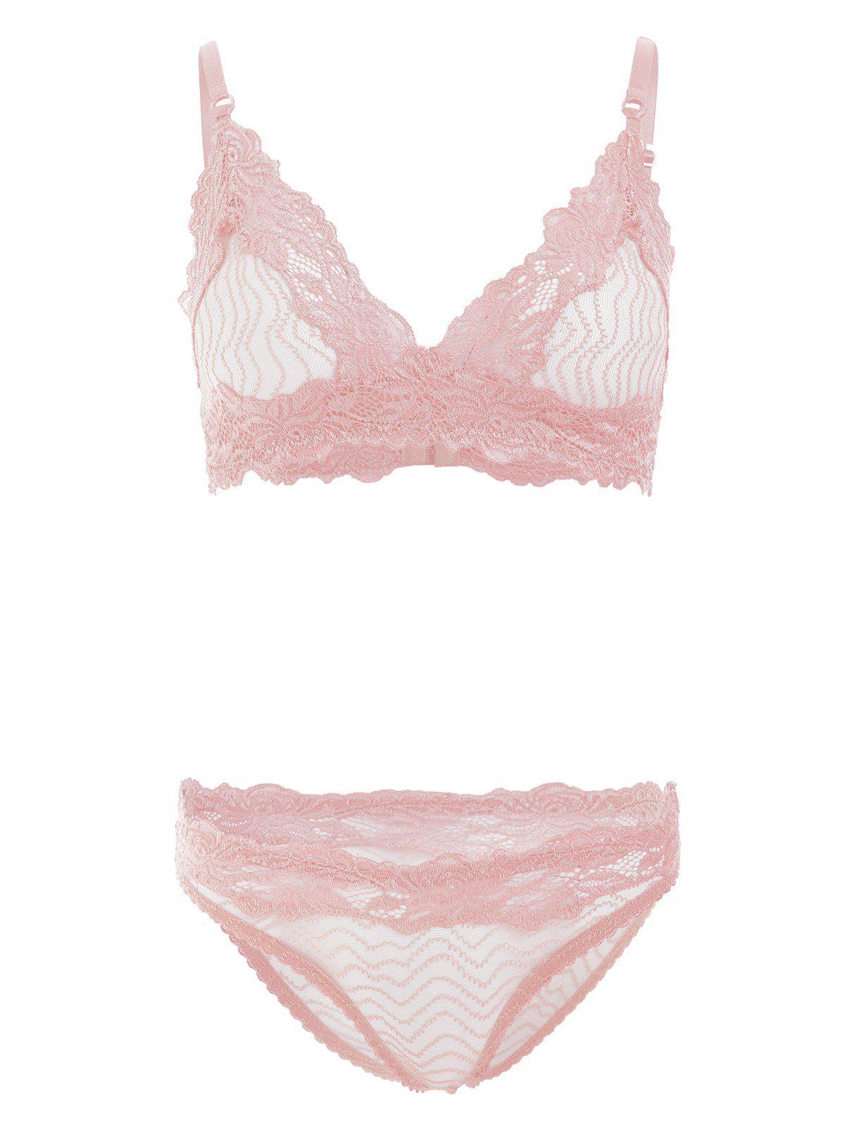 Sheer Lace Bra and Panties