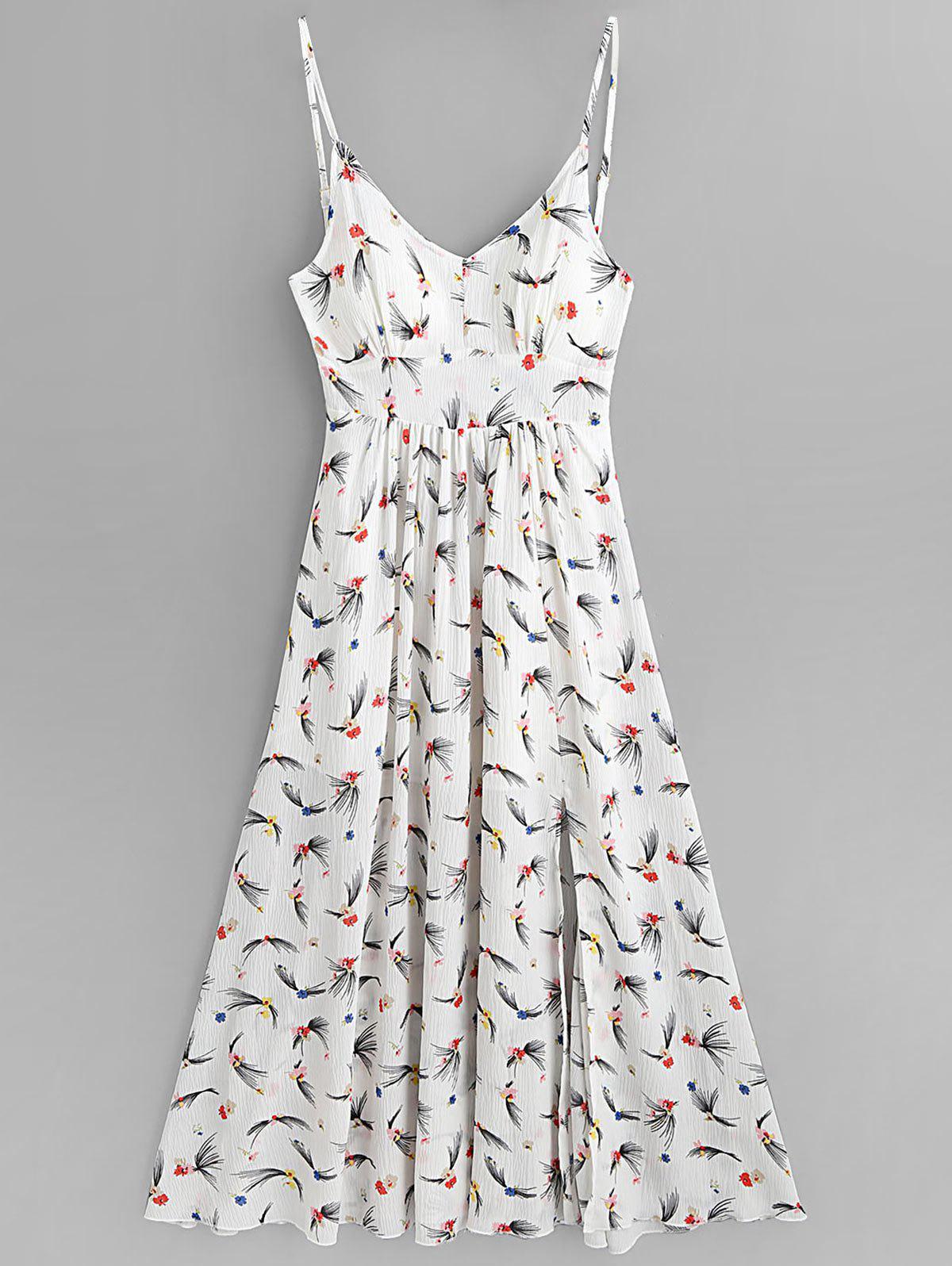 Floral Print Slit Cami Maxi Dress 255527704