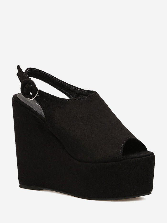 Peep Toe Platform Wedge Slingbacks 256008301