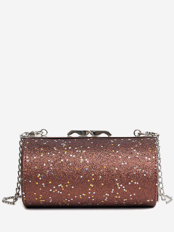 Glitter Round Shaped Crossbody Bag