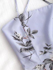 Con Largo Vestido Floral De Floral Cross Estampado M Cami Criss aaxwrgd