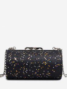 بريق على شكل اسطوانة حقيبة كروسبودي - أسود