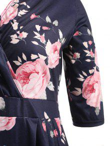 Plunge Estampado Vestido De Floral Xl Floral qP1pCgw