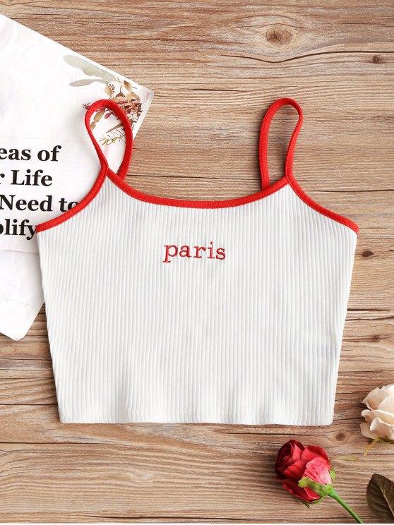 صدرية مضلع ورد باريس - أبيض L