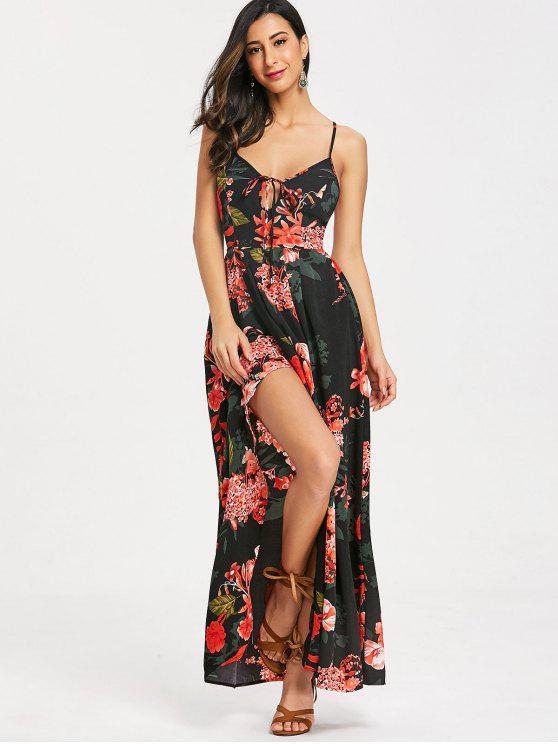 78dd256394 36% OFF   HOT  2019 Cami Floral Criss Cross Maxi Dress In BLACK