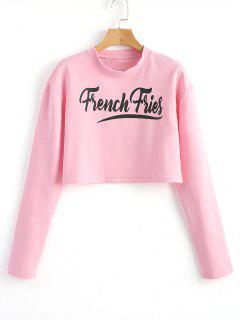 Cropped Letter Logo Top - Pink