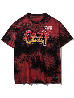 T-shirt Tie-Dye à Manches Courtes - Rouge L