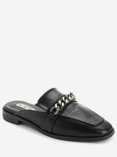 Zapatillas Mulas Con Cordones - Negro 36