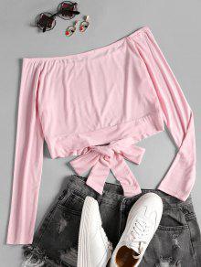 S Camiseta Con Hombros Hombros Descubiertos Rosado Sin xrYxqwazUv