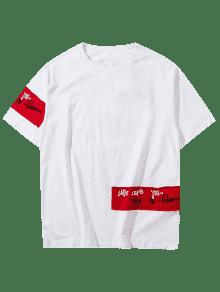 2xl Camiseta Blanco Patch Hip De De Hop Design Rock 8qS1xrg8
