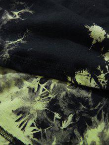 Con 2xl Sin ido Capucha Verde Camiseta Te Mangas Y Anudado dTcFzP6A