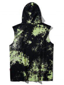 Camiseta Mangas Sin Verde ido Te Y Anudado 2xl Capucha Con rxOwT1qrf
