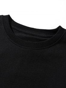 Top Graphic Hem Xl Negro Streetwear Overlay HP7fqWBw4w